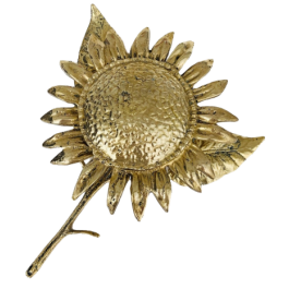 Brass sunflower