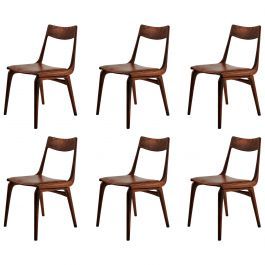 1950s Six Alfred Christensen Boomerang Chairs in Teak, Choice of Upholstery