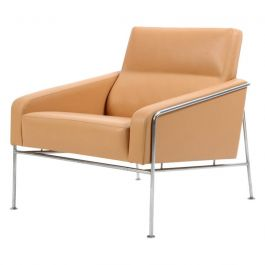 Vintage Series 3300 natural leather armchair by Arne Jacobsen for Fritz Hansen
