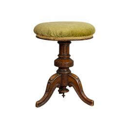 Adjustable Piano Stool, English, Victorian, Walnut, Music, Seat, circa 1870