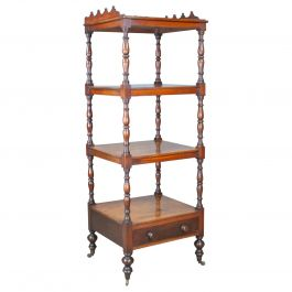 Antique Whatnot, English, Mahogany, Four-Tier, Regency, Display Stand circa 1820