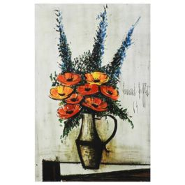 'Les Pavots' by Bernard Buffet 1965 Plate Signed Lithograph