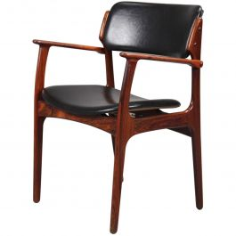 1960s Erik Buch Fully Restored Armchairs in Rosewood, Inc. Reupholstery