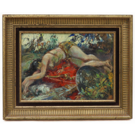 'The Death of Penthesilea' Oil Painting by André Hofer (1890 -1973)
