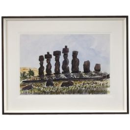 Watercolours of Easter Island by Teddy Millington Drake