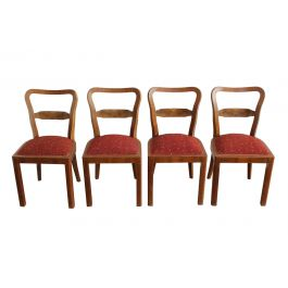 Set of Four Art Deco Dining chairs, 1930s