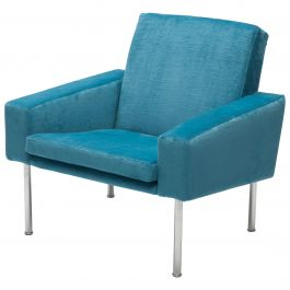 Hans Wegner Arm Chair by AP Stolen Denmark in Electric Blue Velvet