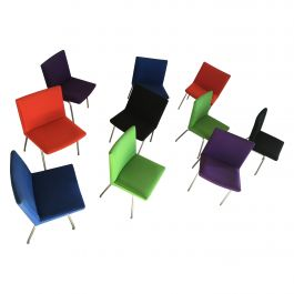 Hans J. Wegner Set of 10 Airport Chairs by A.P. Stolen Inc. Re-Upholstery