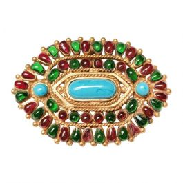 Chanel Gripoix Mughal Brooch / Pendant Autumn 1993