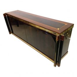 Brass Edged Palisander Inlay Sideboard