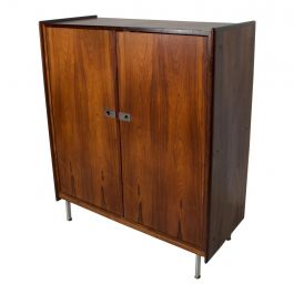 Midcentury Danish Modern Rosewood Highboy Chest of Drawers Storage