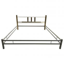 Mid-Century Modern Italian Bronze Bed by Luciano Frigerio from 1970s