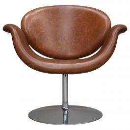 Pierre Paulin Tulip Midi Swivel Armchair F594 in New Leather, Artifort, 1960