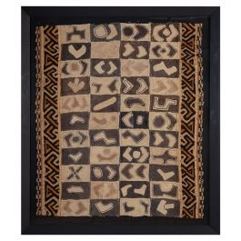 Large Framed Textile Fragment of a Ceremonial Dance Skirt from the Kuba People