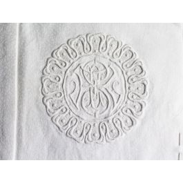 SE 30cm Square Cushion - Antique French SE/ES Monogram on Linen P3055