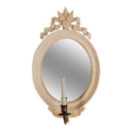 Small Oval Mirror with Bow