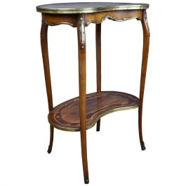 19th Century Victorian Walnut Inlaid Occasional Table