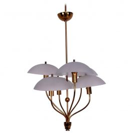 Italian Hanging Chandelier after Fontana Arte