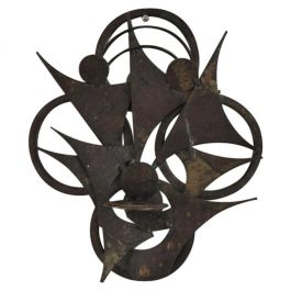 Danish Wall Sculpture in Metal by Henrik Horst, 1970s