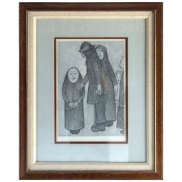 Laurence Stephen Lowry British 1887-1976 Family Discussion Limited Edition