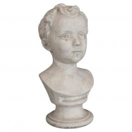 Vintage Child Portrait Bust, English, Plaster, Study, Young Boy, 20th Century