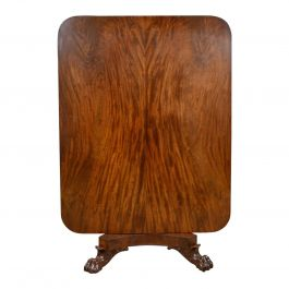 Antique Breakfast Table, English, Regency, Flame Mahogany, Tilt-Top, circa 1830