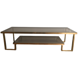Brass And Chrome Design Coffee Table