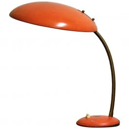 Orange Midcentury Table Lamp by Philips, 1960s