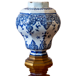 An early 18th century Rouen vase