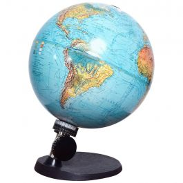 Mid Century Danish Modern Illuminated Scan Globe