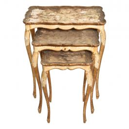 Neoclassical Gilt Florentine, Italian Nesting Tables
