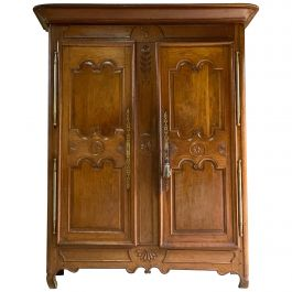Antique French Walnut Armoire Napoleon III 19th Century, France, circa 1850
