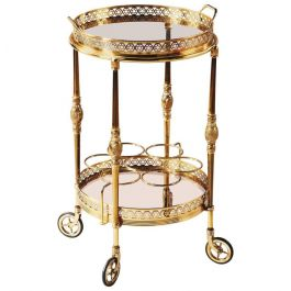French Brass and Gilt Bar Cart