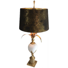 In The Style Of Maison Charles. Ostrich Egg Lamp