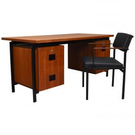 Cees Braakman for Pastoe Model EU02 Japanese Series Desk and Chair in Teak, 1950