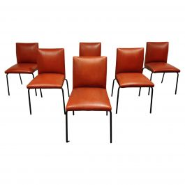 Vintage Robin Dining Chairs by Pierre Guariche Formeurop 1960's, France
