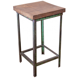 An industrial side-table