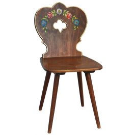 Vintage French Folk Art Chair Mid Century Basque Artist Signed