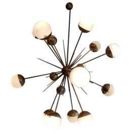 Flush Mount Ceiling Light by Helena Tynell for Glashutte Limburg, 1960s, Germany