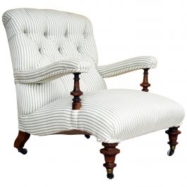 19th Century English Victorian Mahogany Armchair by Howard and Sons