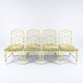 Faux Bamboo Chairs, 1970s, Set of 4