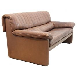 De Sede DS-86 Two-Seat Sofa in Soft Thick Brown Neck Leather