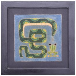 Modern Art Work Frog and Snake Enamel Style