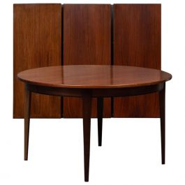 Danish Gunni Omann Three Extension Dining Table in Rosewood by Omann Jun