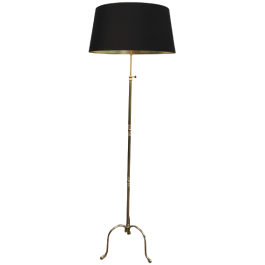 Neoclassical Style Brass Floor Lamp. French. 1940S