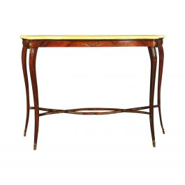 1940s Marble Top Console Table