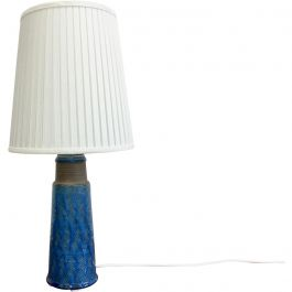 1960s Danish Stoneware Table Lamp With Turquoise Glazing By Nils Kähler
