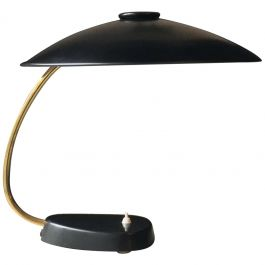 Large Black and Brass Desk Lamp by LBL, Germany 1962