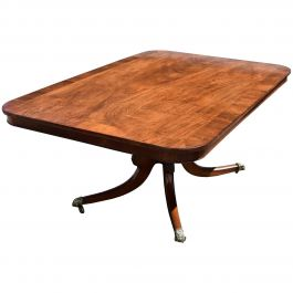 19th Century English George III Mahogany Breakfast Table