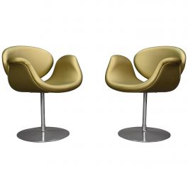 2 Limited Edition Pierre Paulin Tulip Swivel Armchairs for Artifort, 1965